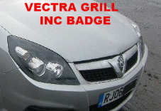 VAUXHALL  VECTRA  CHROME  GRILL + BADGE  2006  - 2008  USED